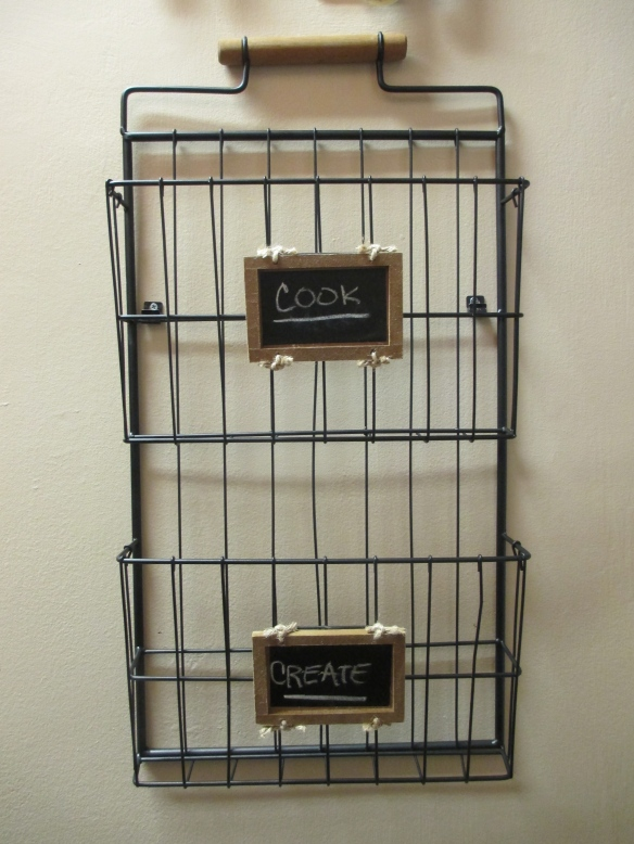Magazine rack mounted to wall